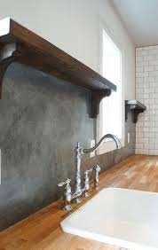 Brown Gray Metal Slate Backsplash by Best 25 Slate Backsplash Ideas On Pinterest Kitchen Granite