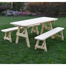 Plans For A Picnic Table With Separate Benches by Picnic Tables You U0027ll Love Wayfair