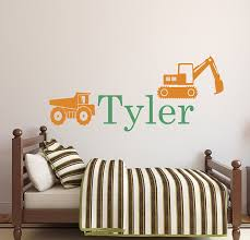amazon com personalized truck name wall decal boys name wall amazon com personalized truck name wall decal boys name wall decal construction wall decals kids room decor vinyl 34wx16h baby