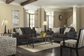 Rustic Modern Living Room by Black Wooden Frame On Grey Carpet Rustic Contemporary Living Room