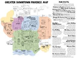 Map Phoenix Arizona by 10 Downtown Phoenix Fun Facts And A Whimsical New Map Too