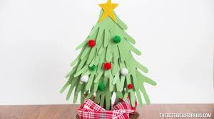 christmas handprint tree adorable christmas craft youtube