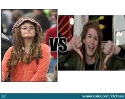Hippie Chick Meme - hippie girl vs ras trent by recyclebin meme center