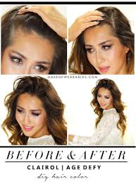 hairstyle to hide grey roots how to color hair at home caramel brown ombre