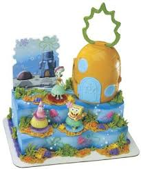 amazon com spongebob squarepants luau signature cake set toys