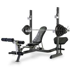 Monster Bench Tunturi Pure Olympic Folding Weight Bench With Rack And 140kg