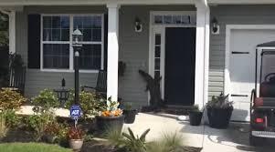 front door video camera video shows alligator scaling front door of south carolina home
