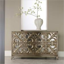 Venetian Mirrored Console Table Spellbind Mirrored Buffet Table With Black Wooden Material Feat