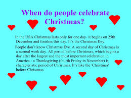 When Is Thanksgiving Day In Usa Christmas In The U S A