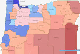 oregon county map oregon voter registration trends