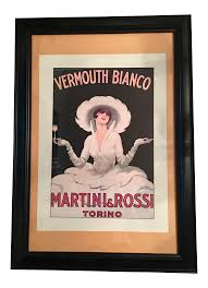 martini and rossi logo martini u0026 rossi vermouth bianco poster chairish