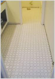 Mosaic Tiles Bathroom Floor - white porcelain mosaic floor tile tiles home decorating ideas