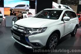 mitsubishi outlander 2016 white 2016 mitsubishi outlander front three quarters at 2015 frankfurt