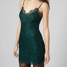 bn authentic topshop petite eyelash lace bodycon in forest