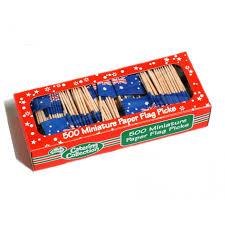 Aussie Flag Flag Toothpicks Australian 500 Pk Catering Supplies Party