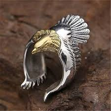 aliexpress buy new arrival 10pcs silver gold aliexpress buy silver gold eagle ring adjustable size for