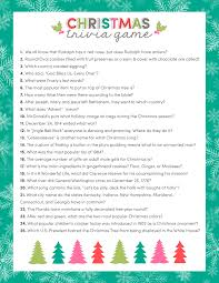 free christmas trivia game just download print and use for your