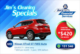 nissan australia special offers chattel mortgage jim u0027s franchise available australia wide