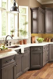 gray kitchen cabinets dynasty cabinets loring door style smoky