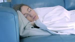 Sleeping On The Sofa Beauty Sleeping On The Sofa Stock Footage 5749928
