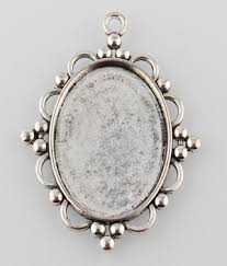 cameo antique necklace images 40x30mm antique silver pendant cabochon setting bali style cameo jpg&a