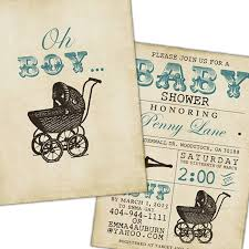 vintage baby shower invitations appealing vintage baby shower for boy 48 for custom baby shower