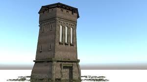 3d model 3d model building observation tower defensive tower vr