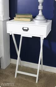 tv tray to campaign nightstand