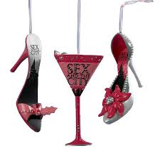 and the city shoe and martini glass ornaments kurt s adler