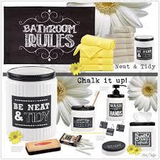 Avanti Bathroom Accessories by Avanti Chalkboard Inspired Bathroom Accessories Polyvore
