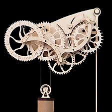 7 Free Wooden Gear Clock Plans by Wooden Mechanical Clock Kit Wooden Clock Kits Clocks And Wooden