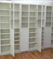Billy Bookcase With Doors White White Billy Bookcase Ikea Bejohome Co