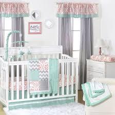 Mint Green Crib Bedding Bedding Cribs Shabby Chic Nursery Dinosaurs Reversible Turquoise