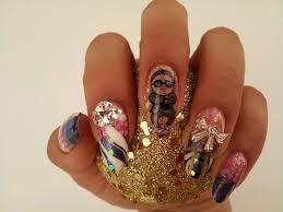 sara nail sara academy new psy nail art psy on your nail tip