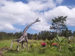 giraffe lawn ornament by c lofgreen artwanted