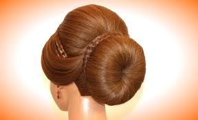 bun updo hairstyle for long hair tutorial youtube