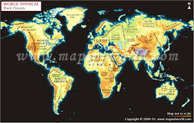 geography map geographical map with black background