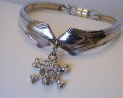 Silver Spoon Jewelry Making - spoon bracelet magnetic clasp etsy