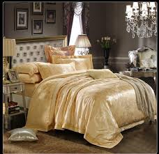 Gold Bedding Sets Gold Bedding Set Home Textile Silk Duvet Cover Silk