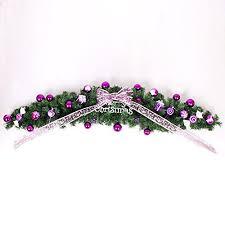 new merry purple ornaments wreath home
