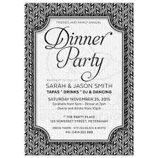 dinner invitation black and white dinner party invitation simply stylish 02