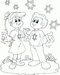 boy and with stars of david coloring page coloring com