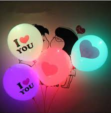 balloons for him led color light balloon heart shaped balloon printing s