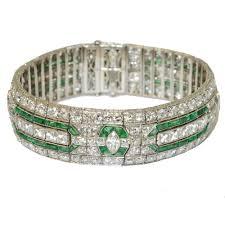 bracelet diamonds images An art deco emerald diamond bracelet by oscar heyman brothers jpg