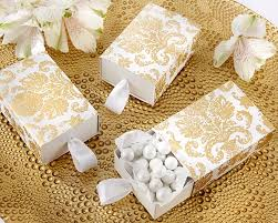 wedding favors boxes treasures gold damask favor box set of 24