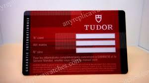 replica tudor warranty cards on sale price 5 95