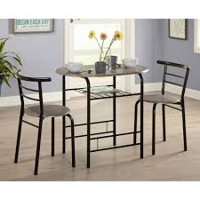 Grey Bistro Table 3 Bistro Set Black Gray Walmart