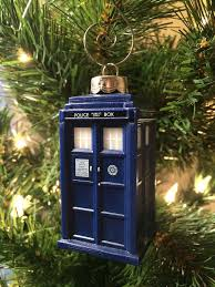 this is freaking adorable this detailed 3d tardis ornament has