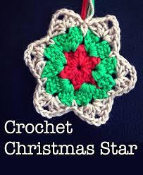 crochet christmas star u2022 the crafty mummy