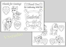 happy birthday paw patrol coloring page paw patrol birthday party thank you coloring pages activity